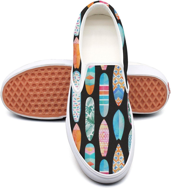 SEERTED Beach Surfboards Pattern Casual Sneakers for Women Wide Width