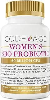 Codeage SBO Probiotics for Women 50 Billion CFU with Ayurvedic Herbs, 18 Strains, Shelf Stable, Vegan, Gluten, Dairy and Soy Free, Prebiotic Fiber, 60 Capsules
