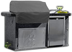 KHOMO GEAR - Titan Series - Waterproof Heavy Duty Island BBQ Grill Cover - Grey - Large - 57