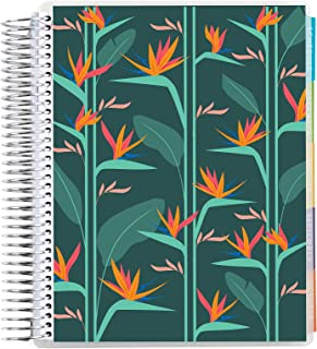 """$20 » 7"""" x 9"""" Coiled 12 Month Academic Planner ( August 2021 - July 2022) - Tropical Garden. 12 Month Dated Calendar w/ Lined Pa..."""
