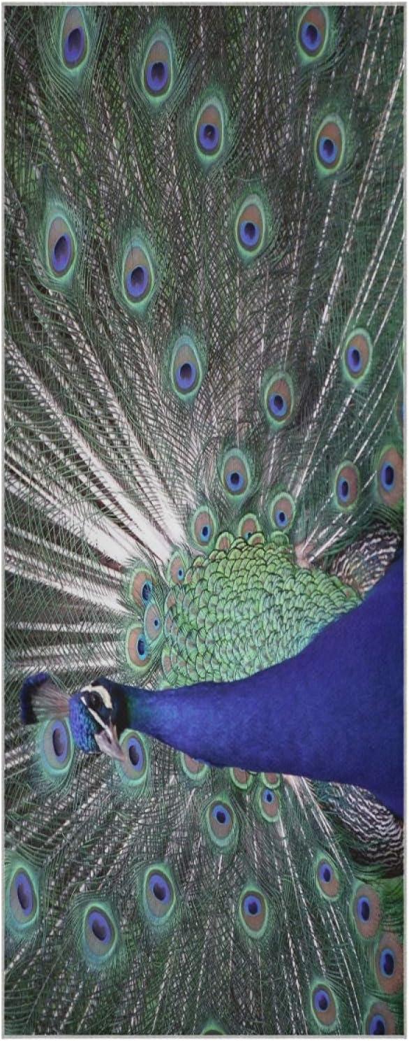 73 Inch Yoga Mat Towel Animal Slip Non L Free Shipping New Beauty Rapid rise Peacock Foldable