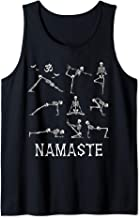 Funny Halloween Namaste Skeletons Yoga, Namaste Om Halloween Tank Top