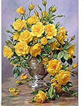 DIY Diamond Painting Kits for Adults, Kids,Office Decor Room House Presents for Her Him Yellow Flower 15.7 × 19.7in 1 Pack by Light S Direct