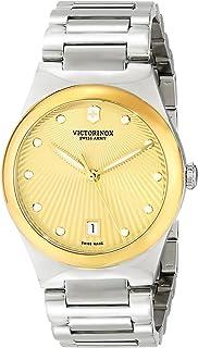ساعة فيكتورينوكس فيكتوريا انالوج بعقارب للنساء كوارتز سويسرية فضية Gold/Stainless