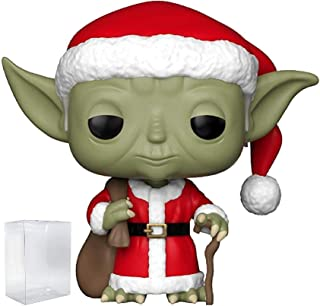 Funko Pop! Star Wars: Holiday - Santa Yoda Vinyl Figure (Includes Pop Box Protector Case)