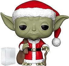 Funko Pop! Star Wars: Holiday - Santa Yoda Vinyl Figure (Includes Pop Box Protector Case)