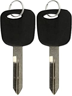 2 KeylessOption Replacement Ignition Chipped Key Transponder Compatible with Ford 4C H72