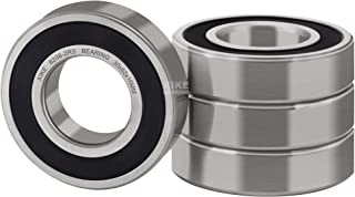 XiKe 4 Pcs 6206-2RS Double Rubber Seal Bearings 30x62x16mm, Pre-Lubricated and Stable Performance and Cost Effective, Deep Groove Ball Bearings.