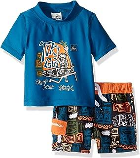 Skechers - Traje de baño para niños con Pantalones y Playera de protección contra rasguños