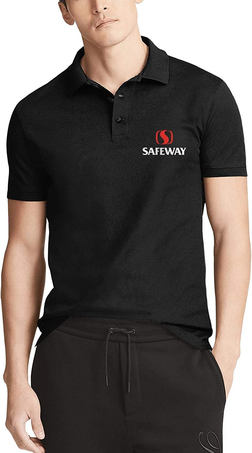Men's Courier shipping free shipping Black Short Sleeves T-Shirts Safeway-Inc-Log Bombing new work Polo Collared