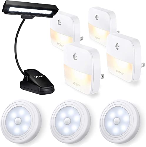 discount Vont Night Light 4-Pack + wholesale Motion Sensor Lights 3-Pack + 10-LED Clip Light Bundle - Efficient, Smart Lights for Night Use Indoors - for All The Right Lighting You Need to Read, wholesale Study, Work at Night outlet sale