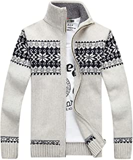 Fashion Men's Winter Cotton Knitted Cardigan Casual Thick Warm Sweater