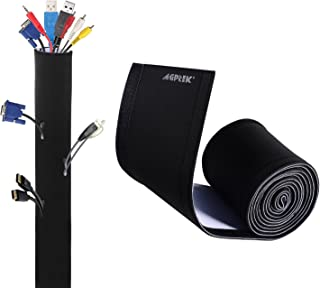 "AGPTEK Cable Management Sleeve, 118"" Super Long Neoprene Adjustable Cable Sleeves for TV Computer Cable Management Sleeves..."