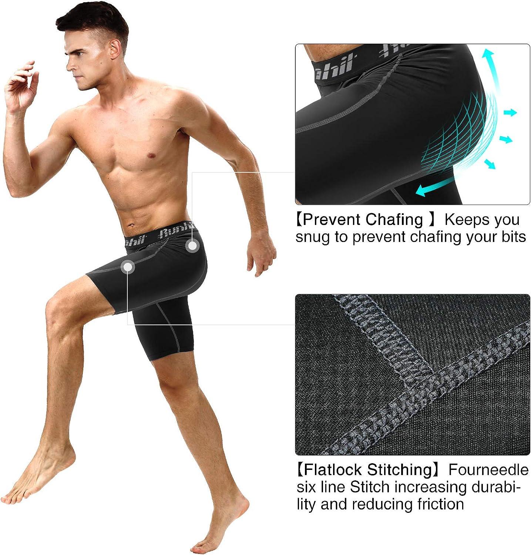 Runhit Kompressions-Shorts f/ür Herren f/ür Workout und Laufen Unterw/äsche aus Spandex