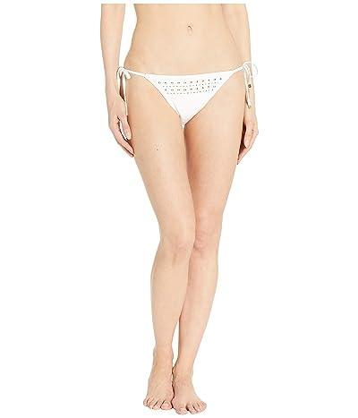 MICHAEL Michael Kors Glam Deco Triangle Bikini Bottoms (White) Women