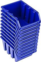 Pafen NP4 - Juego de cajas apilables (10 unidades), color azul