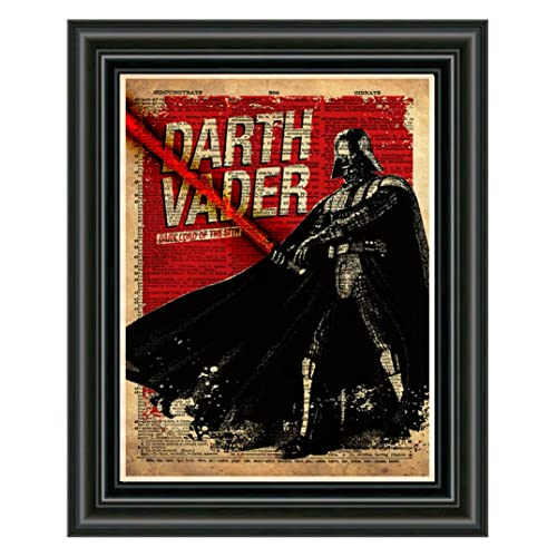 Darth Vader Star Wars Dictionary Art Print Book Page Picture Collectible Poster
