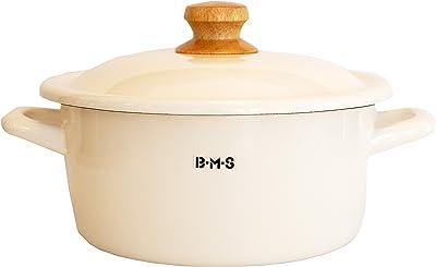 富士ホーロー 両手鍋 キャセロール ビームス 20cm ホワイト BMS-20W・W