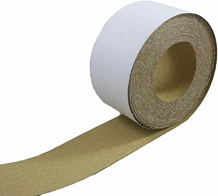 "ABN Adhesive Sticky Back 120-Grit Sandpaper Roll 2-3/4"" Inch x 20 Yards Aluminum Oxide Golden Yellow Longboard Dura PSA"