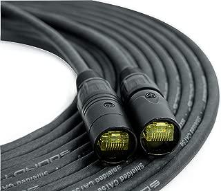 SoundTools SuperCAT Professional Grade Shielded CAT5e Cable etherCON (50 feet, Black)