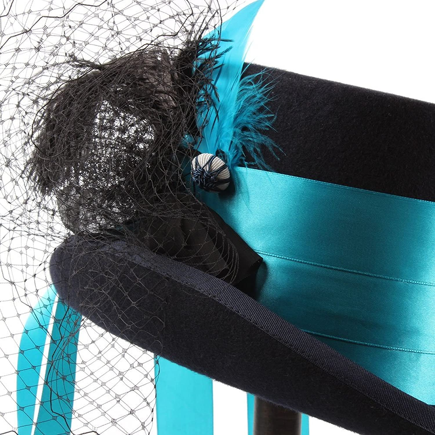 XIANGBAOHat Steampunk Gothic Victorian Wedding Hat Holiday Hat Masquerade Hat With Feathers + Ribbon + Mesh Yarn