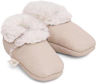 comprar comparacion Baa - Botines de piel de cordero para bebé, color Marrón, talla 12-18 meses