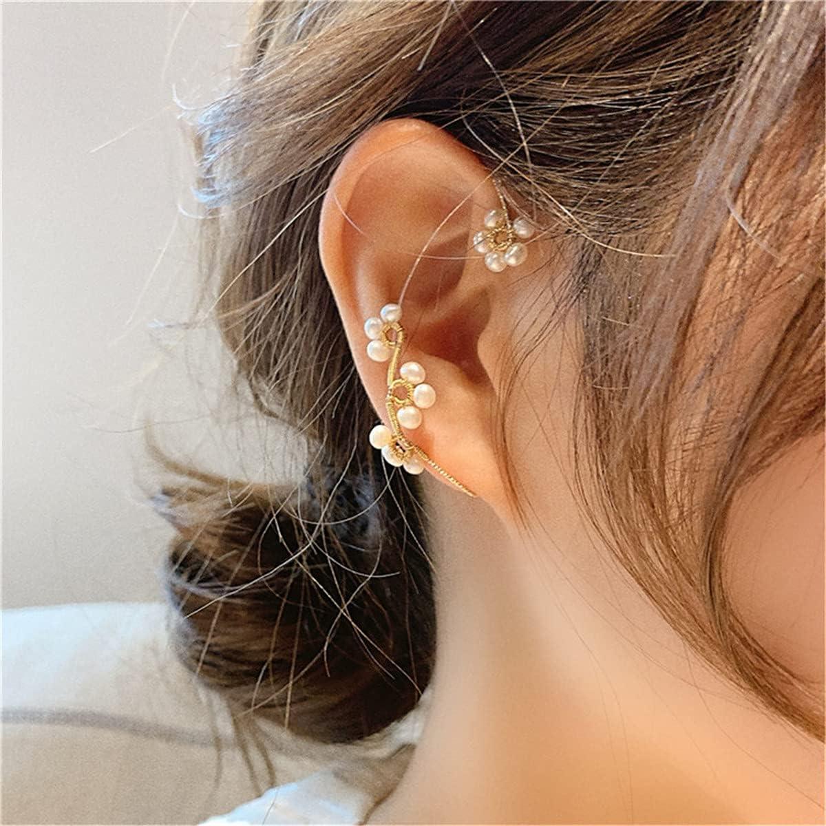 LJZX Vintage Ear Cuff Earrings Wrap Around Ear Wrap Crawler Hook Earrings for Women Girls (B)