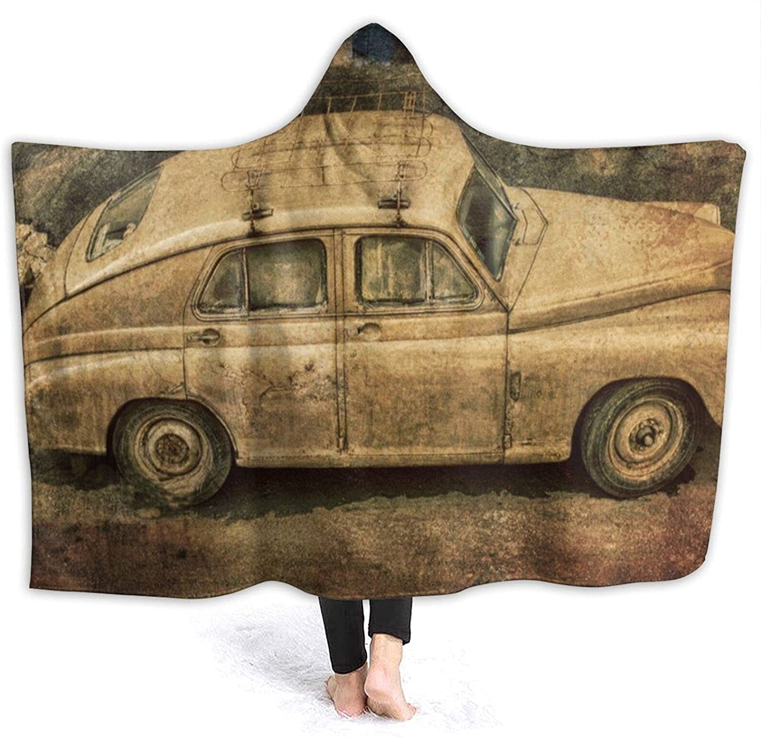AUISS Wearable Superior New mail order Throw Blanket Vintage Hoodie Car Wrap Cape