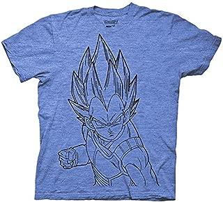 Dragonball Z Vegeta Line Art DBZ Anime Adult Shirt