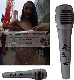 Victoria WWE Diva Autographed Hand Signed Microphone with Exact Proof Photo of Victoria Signing the Mic and Coa, WWF, Professional Wresting, World Wrestling Entertainment