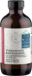 Wise Woman Herbals - Kava Glycerite Standardized - All-Natural Nervous System Support - Kavalactones Support a Healthy Response to Stress - Relieves Tension and Reduces Symptoms of Anxiety (8oz)