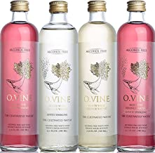 O Vine - Wine Grape Infused Essence Water - Variety Pack (3 Red Still, 2 Red Sparkling, 2, White Still, 2 White Sparkling) - 11.8 oz (9 Glass Bottles)