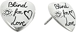 Gucci - Blind for Love Stud Heart Earrings