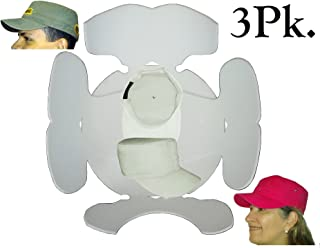 3Pk. White Hat Panel Shaper Combo for Military Cap, Flat Bill 5 Panel Hat, Army Cap, Conductors Hat and Cadet Caps, Comfortable Flexible Hat Shapers, Long Lasting Hat Liner. 1 FREE ITEM, Plus FREE S&H