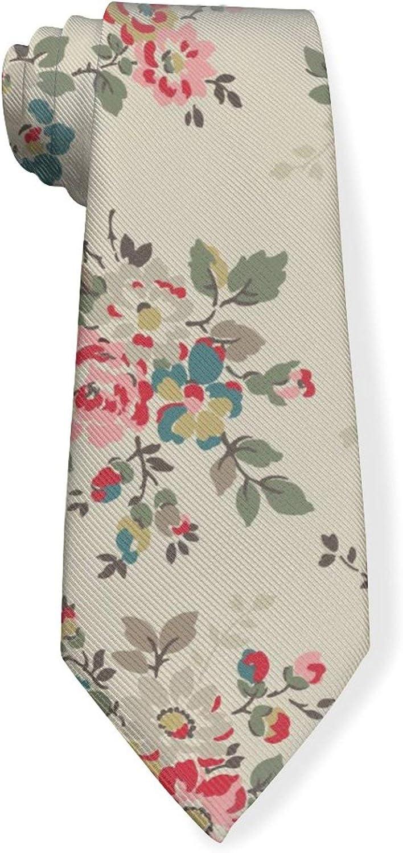 Colorful Floral Mens Classic Color Slim Tie, Men's Neckties, Fashion Boys Cravats