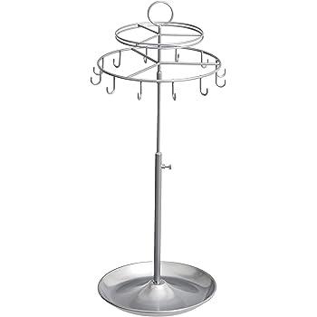Amazon Basics Spinning Jewelry Tree Stand - Nickel
