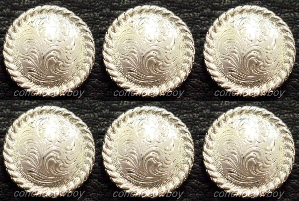 ! Super beauty product restock quality top! Conchos Leathercraft Limited time sale Accessories Set of TACK Horse 6 Western Bri