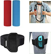 TiMOVO Leg Strap and Ring-Con Grips for Nintendo Switch Ring Fit Adventure, Soft Lightweight Joy-Con Gaming Controller Adj...