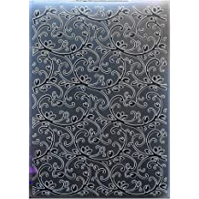 Kwan Crafts Bird Star Plastic Embossing Folders for Card Making Scrapbooking and Other Paper Crafts 10.5x14.5cm