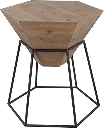 Privilege 32006 Large Wood Iron Accent Stand