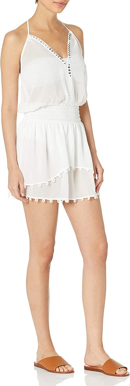 Ramy Brook Women's Standard Leila Halter Embellished Mini Dress Coverup