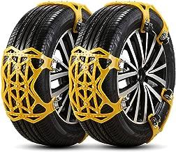 Gr/ö/ße : 235-285mm Delaman Reifen Schneekette Reifen Anti-Rutsch-Stahlkette Schneeschlamm Auto Sicherheit Reifen G/ürtel f/ür Auto LKW SUV 3 St/ücke