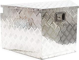 Caja aluminio con cerradura Cofre herramientas Caja enganche vehículo Accesorios remolques Coches