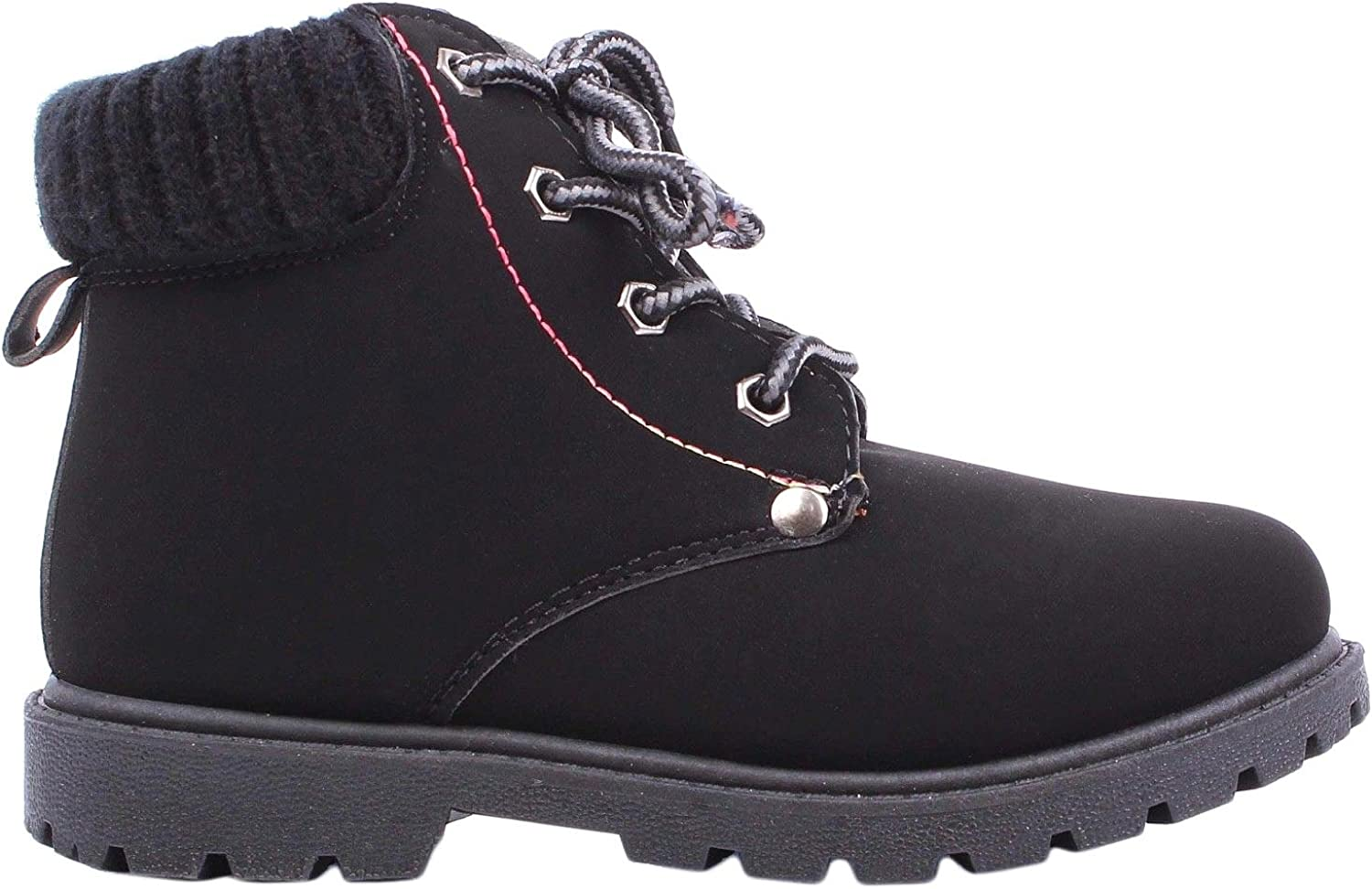 Kids Girls Ankle-High Combat Zipper Laces National Price reduction products Boots and Winte Nubuck