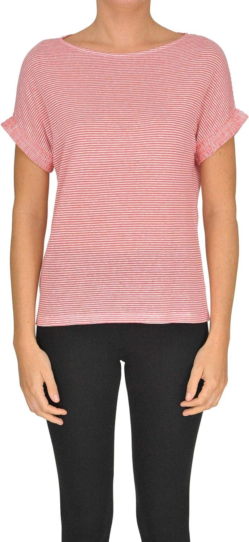 Aragona Women's MCGLTPS000005014E Red Linen TShirt