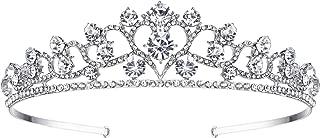 EVER FAITH Silver-Tone Austrian Crystal Wedding Heart-shaped Hair Head Band Clear