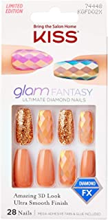 Kiss Glam Fantasy Ultimate Diamond 28 Nails KGFD02X Caramel Coffin