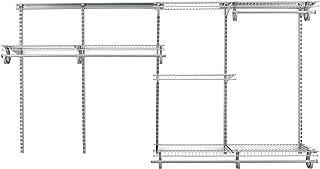 ClosetMaid ShelfTrack 78809 Kit de rangement réglable pour placard Chrome satiné 1,5 m à 2,4 m