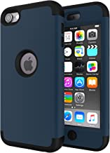 iPod Touch 7 Case,iPod Touch 6 Case,SLMY(TM)High Impact Heavy Duty Shockproof Full-Body Protective Case with Dual Layer Hard PC+ Soft Silicone For Apple iPod Touch 7th/6th/5th Generation Teal/Black