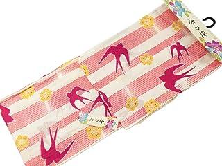 【さらさ】 香乃逢 大きめサイズ お仕立て上がり浴衣 綿素材 単品 ta-18 紅梅織浴衣